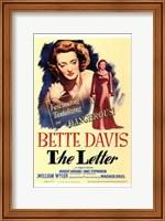 The Letter Bette Davis Wall Poster