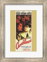 Casablanca Vertical Movie Cast Fine-Art Print