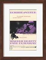 Bonnie and Clyde Dunaway & Beatty Wall Poster
