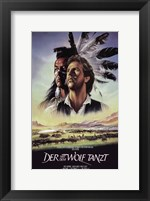 Dances with Wolves Native American Wall Poster
