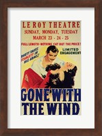 Gone with the Wind Vintage Theater Advertisement White Wall Poster