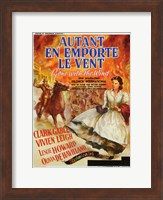 Autant En Emporte Le Vent Fire Wall Poster