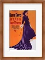 Jezebel - purple dress Wall Poster