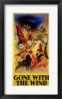 Gone with the Wind - Clark Gable & Vivien Leigh on Stairs Wall Poster