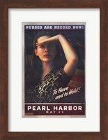 Pearl Harbor Art Deco Nurses Are Needed Now Wall Poster