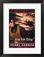 Pearl Harbor Art Deco Buy War Bonds Wall Poster