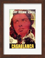 Casablanca Close Up Wall Poster