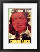 Casablanca Close Up Wall Poster