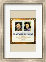 Gone with the Wind Framed Clark Gable & Vivien Leigh Wall Poster