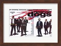 Reservoir Dogs Cast with Blood Splatter Wall Poster