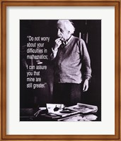 Einstein - Do Not Worry Fine-Art Print