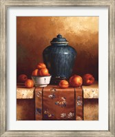 Ginger Jar with Peaches, Apricots & Tapestry Fine-Art Print