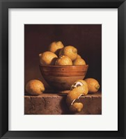 Lemons in a Bowl with Peel Fine-Art Print