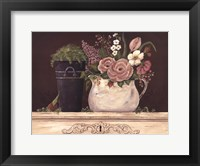 Floral W-Black Bucket Fine-Art Print