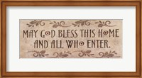 May God Bless This Home Fine-Art Print