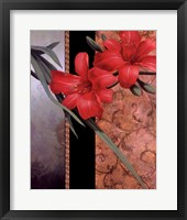 Orchid Red/Teal Damasque Fine-Art Print