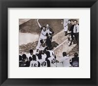 Bill Mazeroski - 1960 World Series Winning Home Run, sepia Fine-Art Print