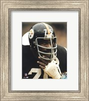 Joe Greene - Close up on sidelines Fine-Art Print