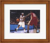 LeBron James/Carmelo Anthony - Court Action Fine-Art Print