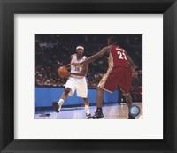 LeBron James/Carmelo Anthony - Court Action Fine-Art Print