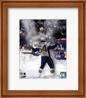Tedy Bruschi - Snow Game 12/7/03 Fine-Art Print
