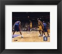 Kobe Bryant - '04 Finals 3 point shot/ front view Fine-Art Print