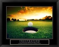 Frustration - Golf Ball Fine-Art Print