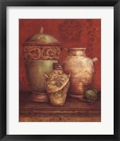 Tuscan Urns I - Mini Fine-Art Print