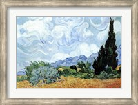 A Wheat Field with Cypresses, c.1889 Fine-Art Print