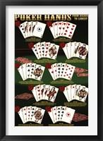 Poker Hands Wall Poster