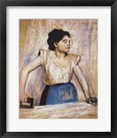 Girl At Ironing Board Fine-Art Print