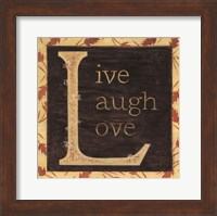 Live Laugh Love - Border Fine-Art Print