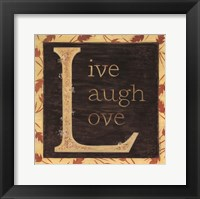 Live Laugh Love - Border Fine-Art Print