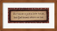 Our House Is... Fine-Art Print