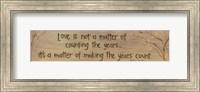 Love Is Not A Matter Of Fine-Art Print