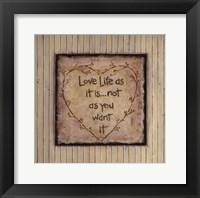 Love Life As It Is Fine-Art Print