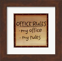 Office Rules Fine-Art Print