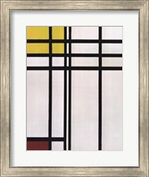 Opposition of Lines: Red and Yellow Fine-Art Print