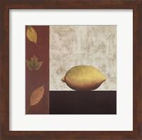 Lemon and Leaves Fine-Art Print