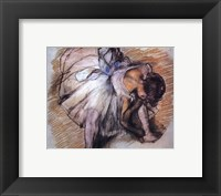 Dancer Adjusting Her Slipper Fine-Art Print