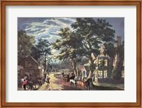 Currier and Ives - Wayside Inn Fine-Art Print
