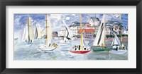 Regates dans le Port de Trouville Fine-Art Print