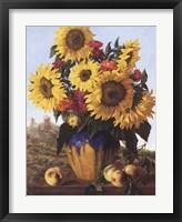 Sunflowers Over Castle Ruin Fine-Art Print