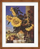 Sunflowers and Pigeonnier Fine-Art Print