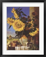 Sunflowers and Pigeonnier Fine-Art Print