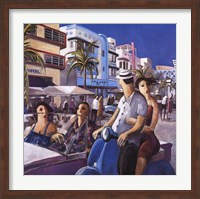 Vespa in Miami Fine-Art Print