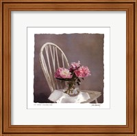 Old Chair With Peonies Fine-Art Print