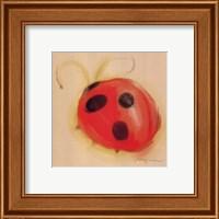 Ladybug On Taupe Fine-Art Print