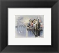 Fishing Docks - seagull Fine-Art Print