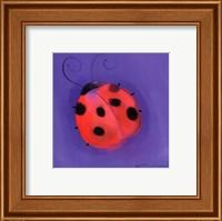 Ladybug On Blue Fine-Art Print